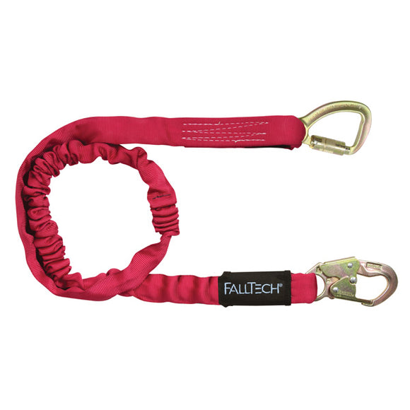 FallTech IronMan Extended Free-fall Shock Lanyard w/ Carabiner - 6 ft.