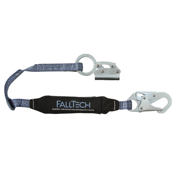FallTech Manual Rope Grab w/ Attached Shock Lanyard - 3 ft.