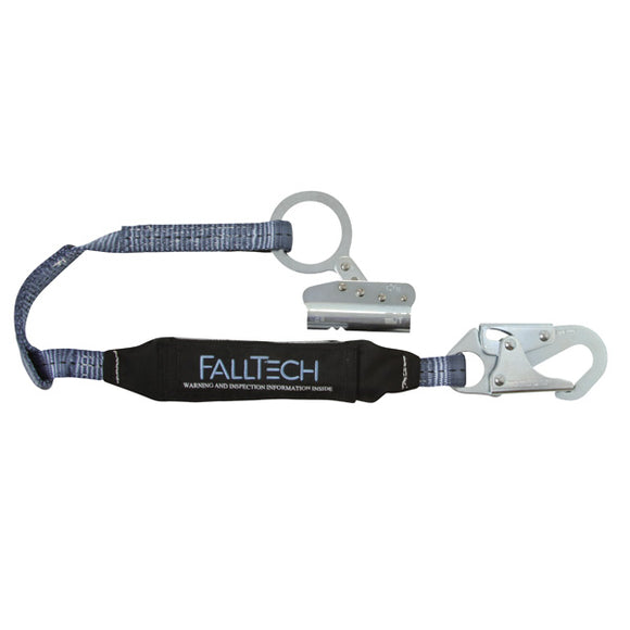 FallTech Trailing Rope Grab w/ Attached Shock Lanyard - 3 ft.