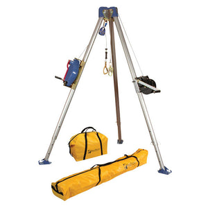 FallTech Tripod Kit w/ 3-Way Retractable & Personnel Winch