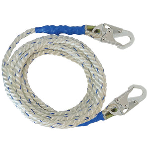 FallTech Vertical Lifeline w/ Snap Hooks - 100 ft.