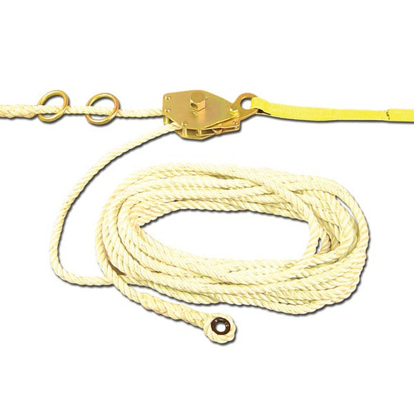 French Creek Temporary Rope Horizontal Lifeline System - 60 ft.
