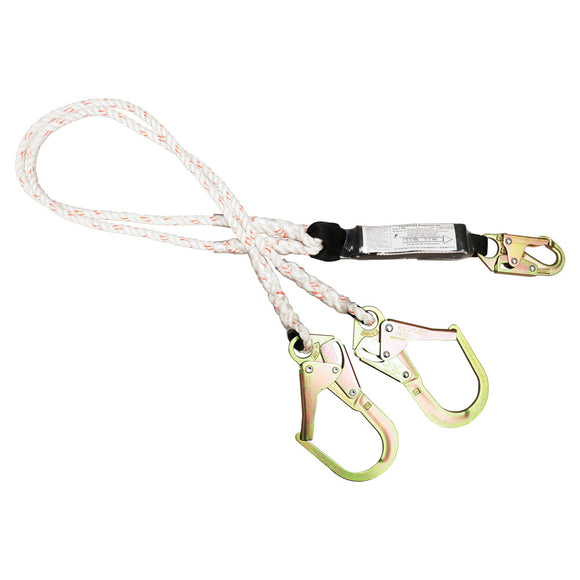 French Creek Rope Dual Leg Lanyard Rebar Hook - 6 ft.
