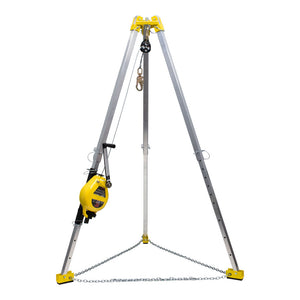 French Creek Tripod Rescue System - Stainless Steel Retractable