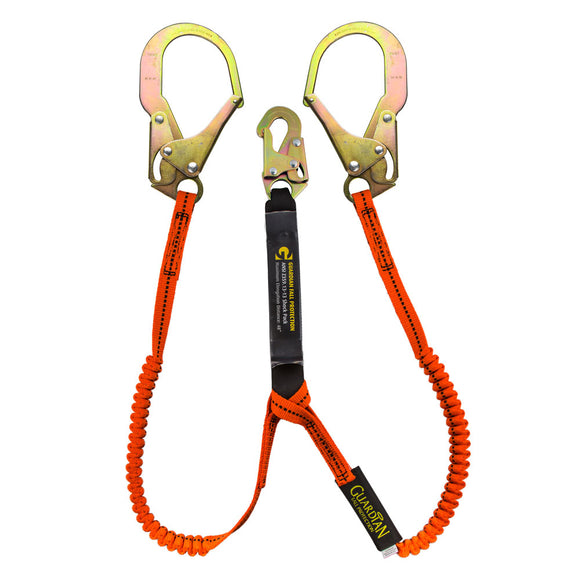 Guardian Tiger Tail Dual Leg Stretch Lanyard Rebar Hooks