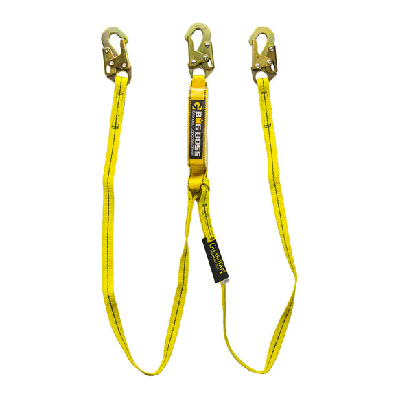 Guardian Big Boss Dual Leg Extended Free Fall Lanyard - 6 ft.