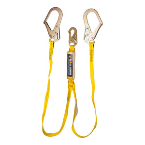 Guardian Big Boss Dual Leg Extended Free Fall Lanyard Rebar Hooks - 6 ft.