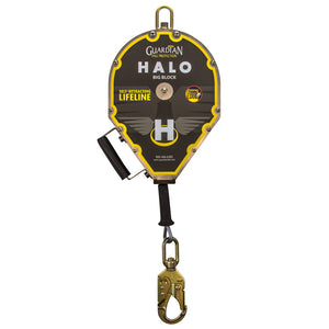 Guardian Halo Big Block Cable Retractable Lifeline - 50 ft.