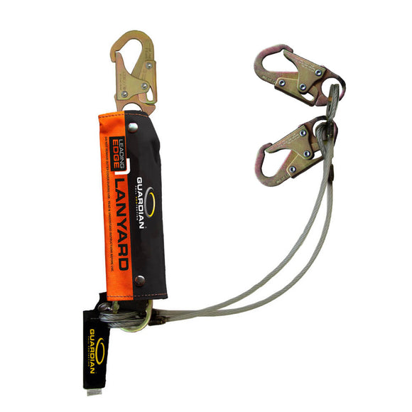Guardian Leading Edge Dual Leg Cable Lanyard -  6 ft.