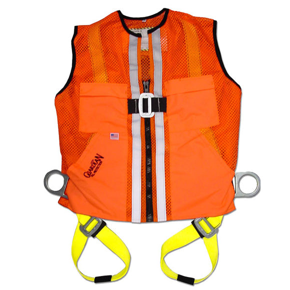 Guardian Orange Mesh Construction Vest Harness