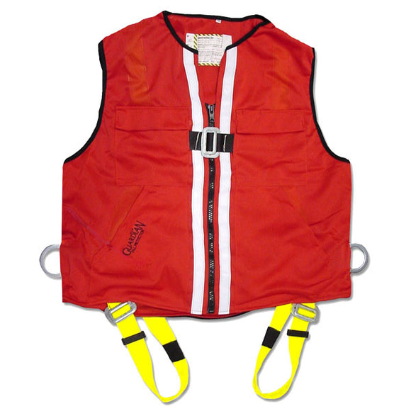 Guardian Red Mesh Construction Vest Harness