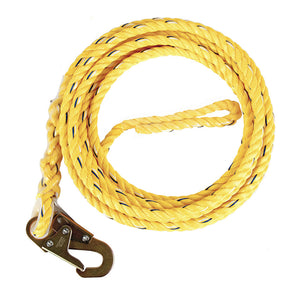 Guardian Poly Steel Vertical Rope Lifeline with Snap Hook
