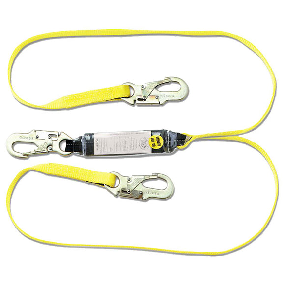 Guardian Shock Absorbing Lanyard-Snap Hooks-Double Leg-4'