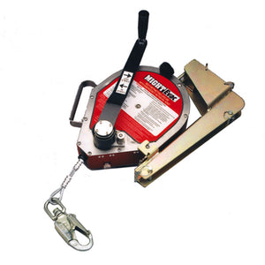 Miller MightEvac Stainless Steel Self Retracting Lifeline w/ Mounting Bracket - 50 ft.