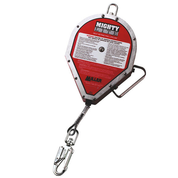 Miller MightyLite Cable Retractable-Galvanized Steel-175'