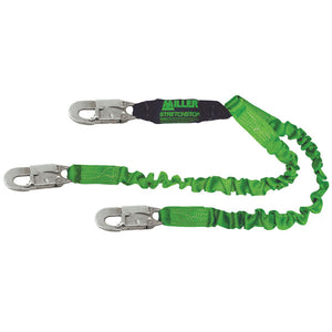 Miller Dual Leg StretchStop Lanyard With Snap Hooks - 6 ft.