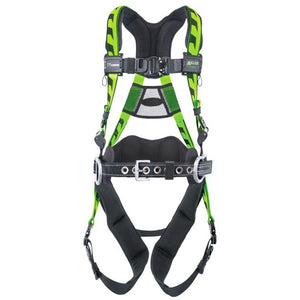 Miller AirCore Construction Harness w/ Quick Connect Buckles & Aluminum Hardware