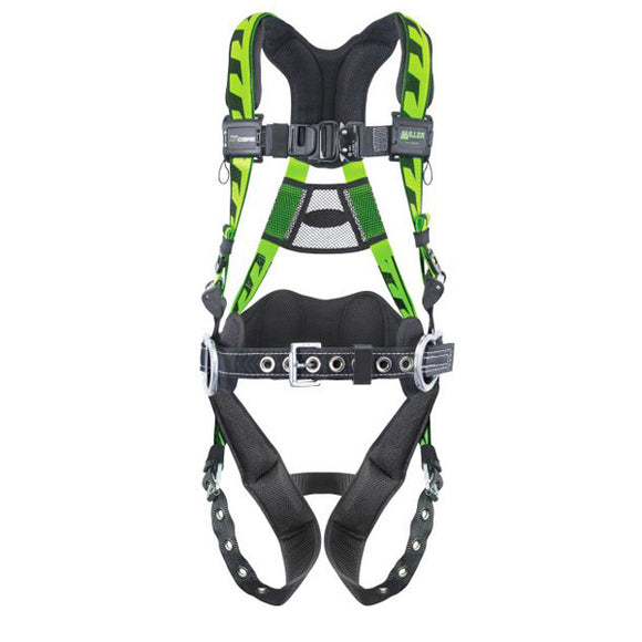 Miller AirCore Construction Harness w/ Tongue Buckles & Aluminum Hardware