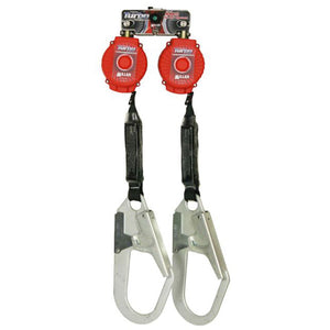 Miller ANSI Z359 Rated Twin TurboLite Personal Fall Limiter w/ Rebar Hooks - 6 ft.