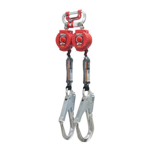 Miller Twin TurboLite Personal Fall Limiter w/ G2 Connector & Aluminum Rebar Hooks- 6 ft.