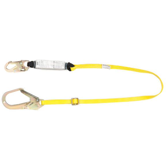 MSA Workman® Energy-Absorbing Lanyard w/ Rebar Hook - 6 ft.