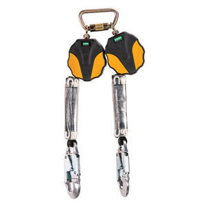 MSA Workman® Mini Twin Leg PFL w/ Aluminum Snap Hooks - 6 ft.