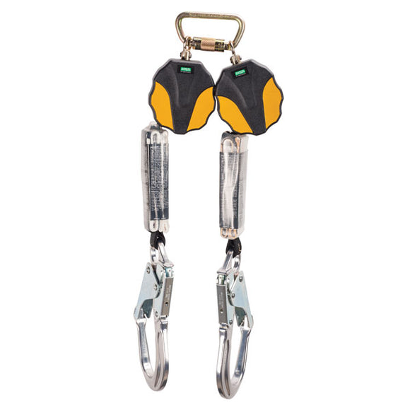 MSA Workman® Mini Twin Leg PFL w/ Aluminum Rebar Hooks - 6 ft.