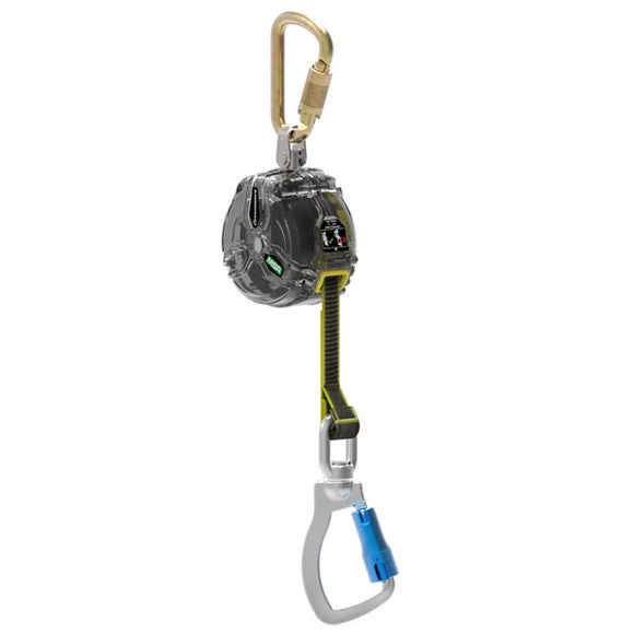 MSA Latchways Web Personal Fall Limiter w/ Aluminum Carabiner - 10 ft.