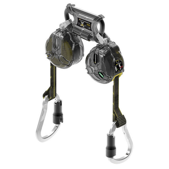 MSA Twin Leg Latchways Mini PFL w/  Aluminum Carabiners - 6 ft.
