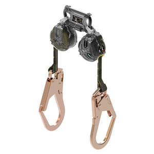 MSA Twin Leg Latchways Mini PFL w/ Rebar Hooks - 6 ft.