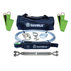 SafeWaze 2-Person Cable Horizontal Lifeline Kit