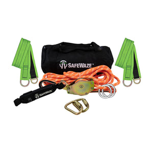 SafeWaze 2-Person Kernmantle Rope Horizontal Lifeline Kit