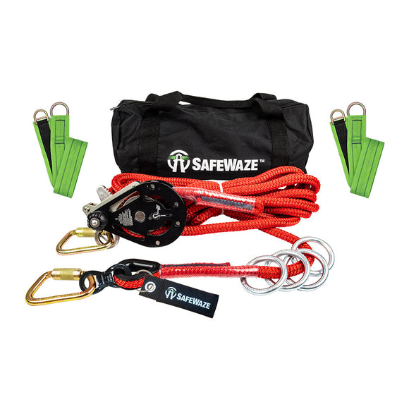SafeWaze 4-Person Rope Horizontal Lifeline Kit