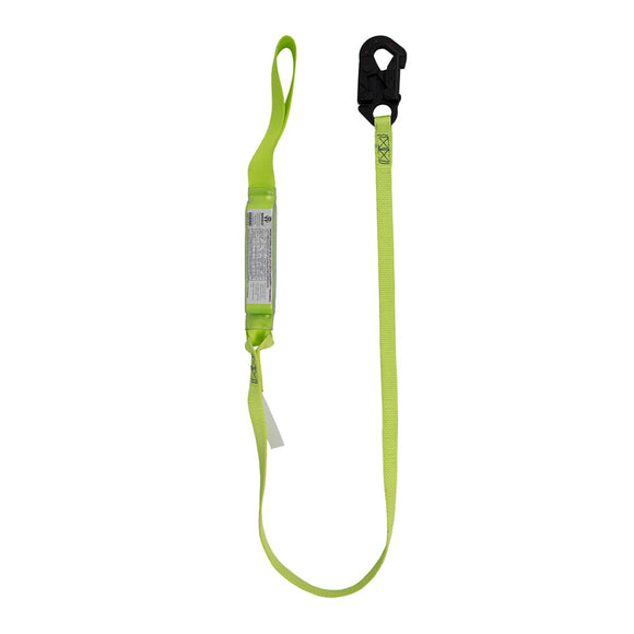 SafeWaze PRO+ Arc Flash Shock Absorbing Lanyard w/ Dielectric Snap Hook and Loop - 6 ft.