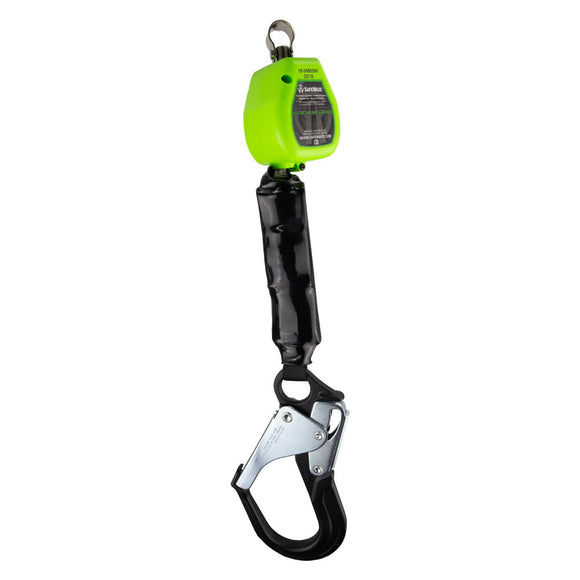 SafeWaze Lightweight Retractable w/ Aluminum Rebar Hook - 6 ft.