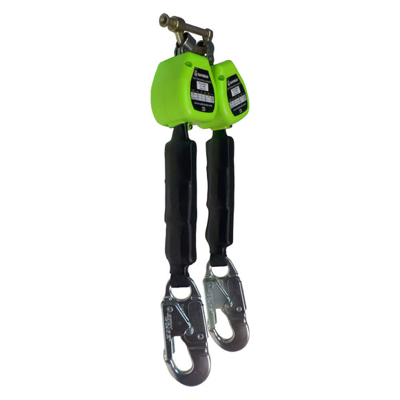 SafeWaze Dual Leg Retractable w/ Aluminum Snap Hooks - 6 ft.