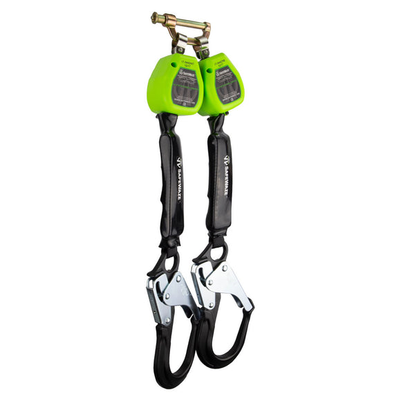 SafeWaze Dual Leg Retractable w/ Aluminum Rebar Hooks & Bracket - 6 ft.