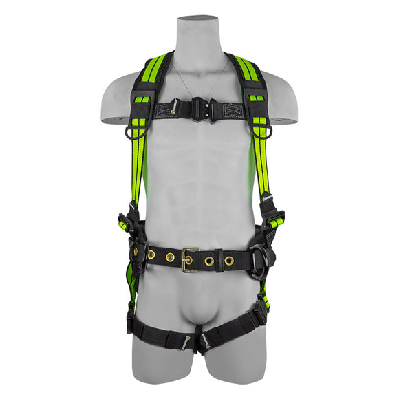 SafeWaze PRO+ Flex Premium Construction Harness w/ Quick Connect Buckles - Front