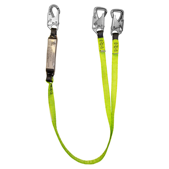 SafeWaze Dual-Leg Tie-Back Shock Lanyard - 6 ft.