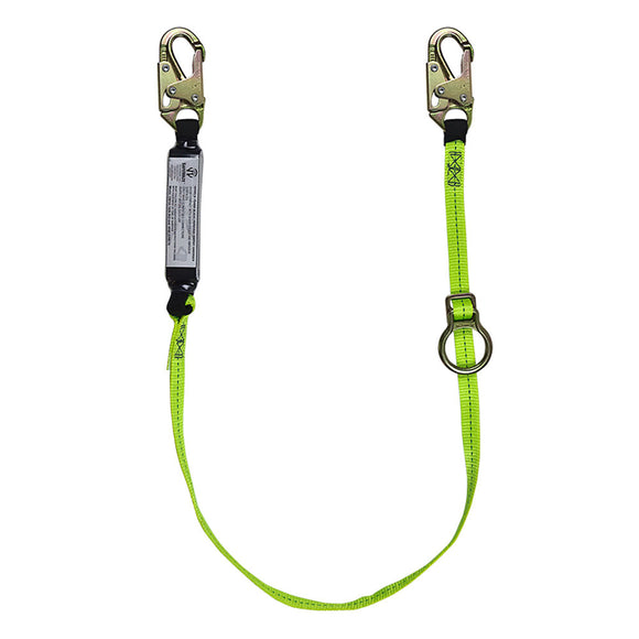 SafeWaze Tie-Back Lanyard w/ Adjustable Ring - 6 ft.