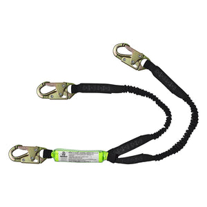 SafeWaze Dual-Leg Stretch Shock Absorbing Lanyard