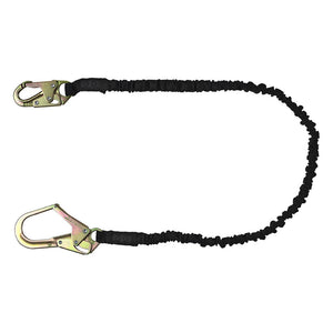 SafeWaze Low Profile Internal Shock Lanyard w/ Rebar Hook - 6 ft.