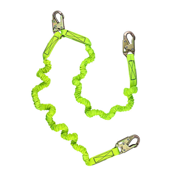 SafeWaze Dual-Leg Low Profile Internal Stretch Shock Lanyard