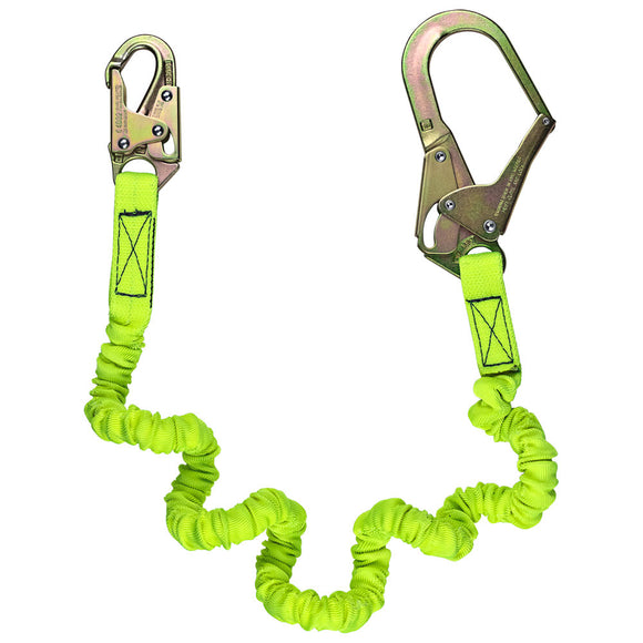 SafeWaze Low Profile Internal Stretch Shock Lanyard w/ Rebar Hook