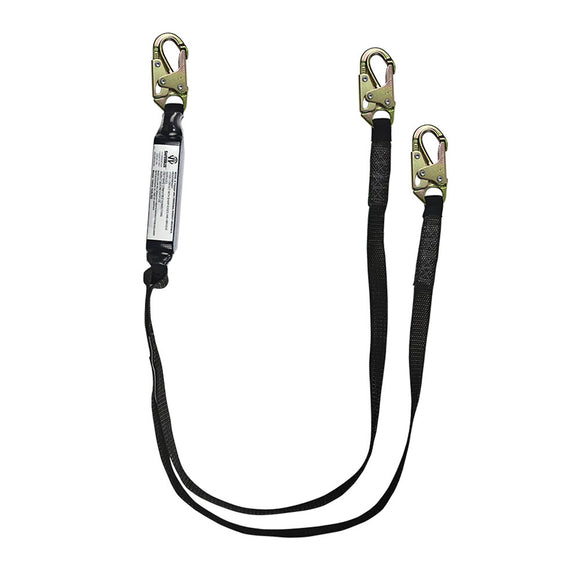 SafeWaze PRO+ Dual-Leg 400 lb. Rated Shock Absorbing Lanyard - 6 ft.