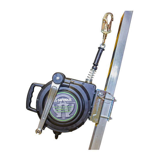 SafeWaze Three Way Retractable Lifeline System - 65 ft.