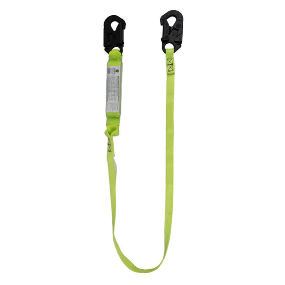SafeWaze PRO+ Arc Flash Shock Absorbing Lanyard w/ Dielectric Snap Hooks - 6 ft.