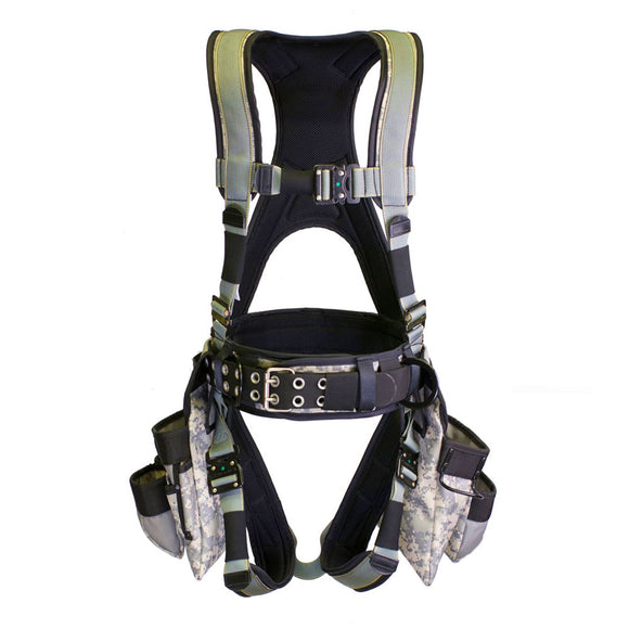 Super Anchor Deluxe Tool Bag Harness - Digital Camo/Green