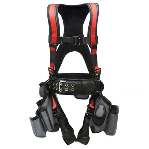 Super Anchor Deluxe Tool Bag Harness - Red