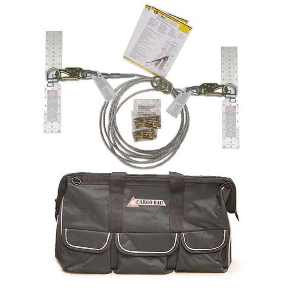 Super Anchor Residential Horizontal Lifeline Kit w/ Bag